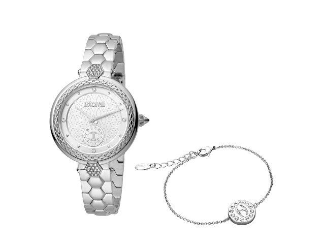 Подарочный набор: часы наручные женские, браслет (арт. 60003)
