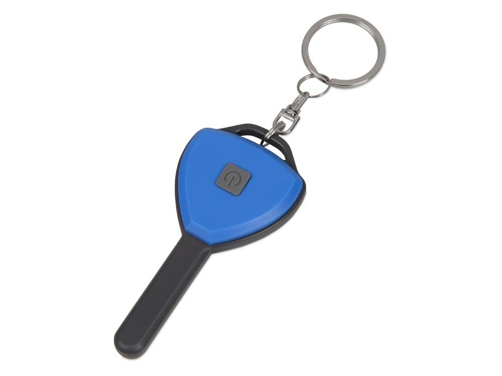 Брелок-фонарик COB Switch, синий/серый