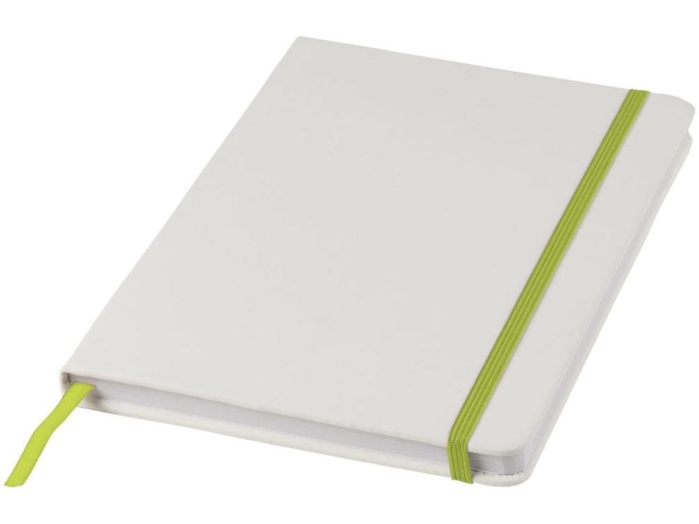Блокнот А5 Spectrum, белый/лайм