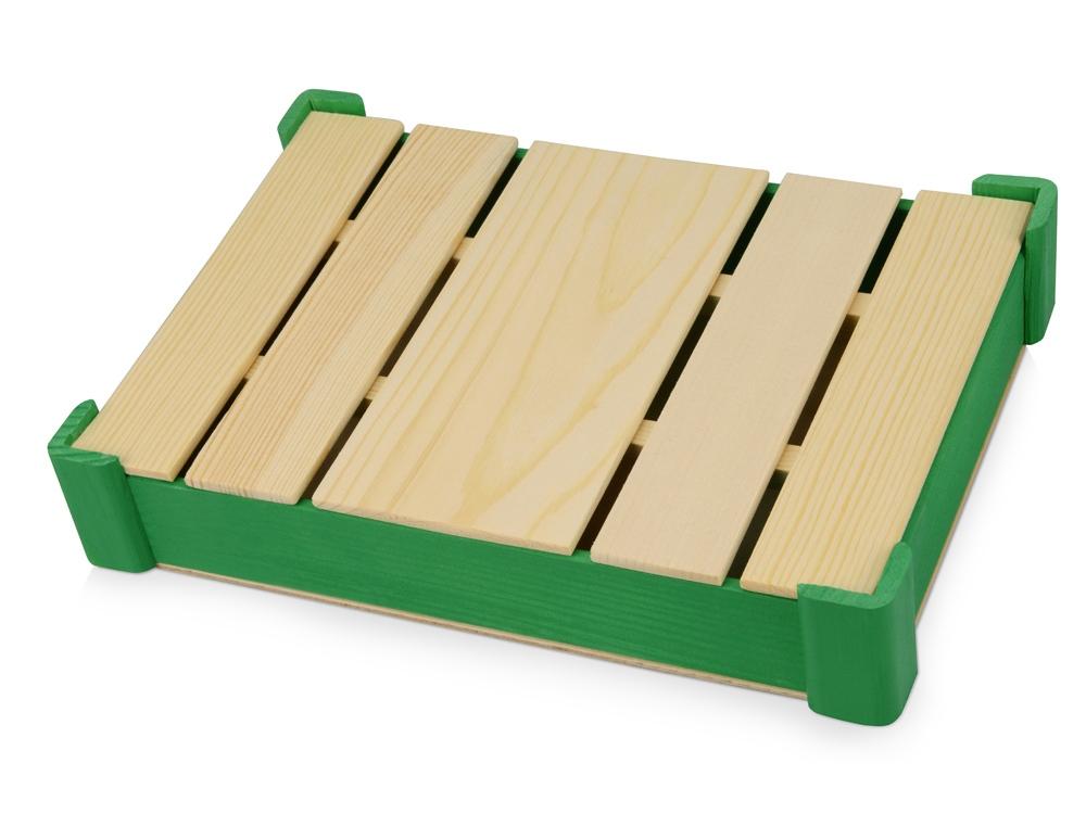 Подарочная деревянная коробка, зеленый
