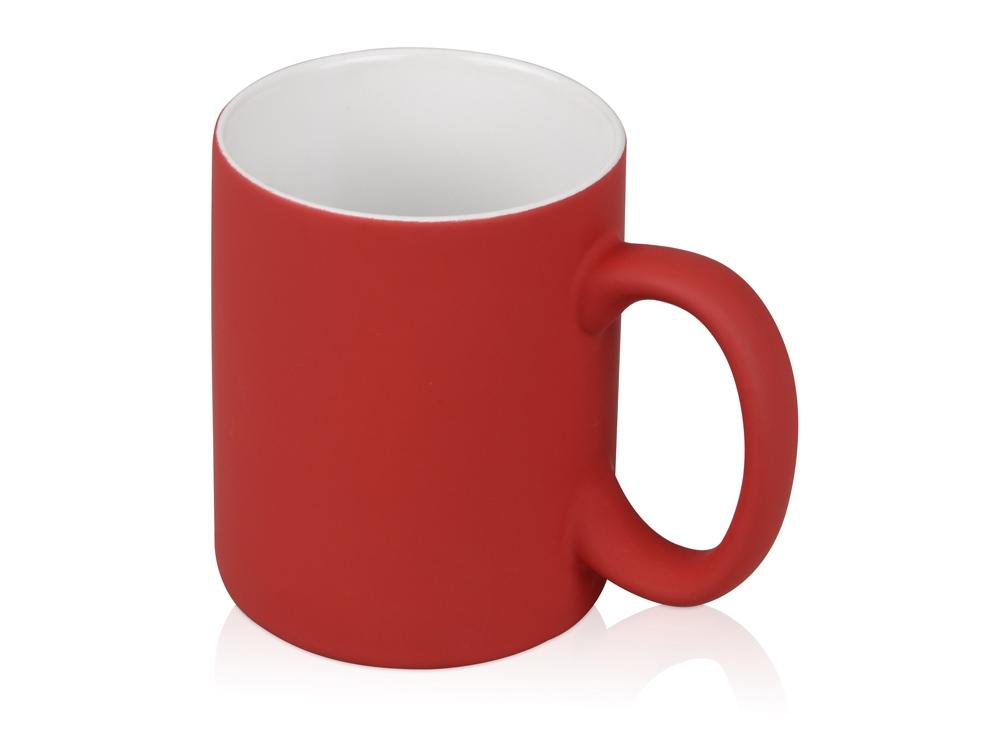 Кружка с покрытием soft-touch Barrel of a Gum, красный