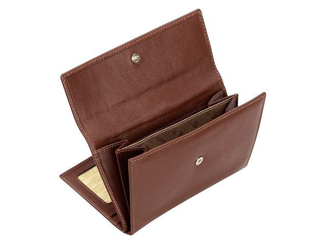 Набор: платок-косынка шелковый, дамское портмоне. Leather North
