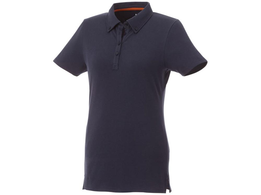 Женская футболка поло Atkinson с коротким рукавом и пуговицами, темно-синий