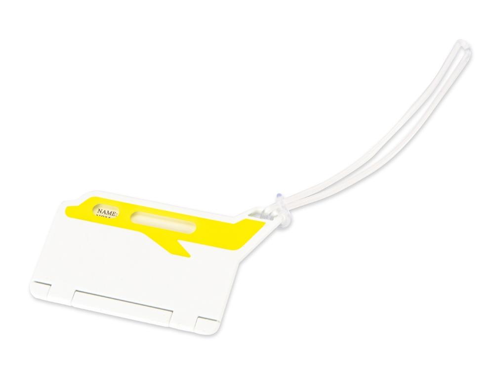 Бирка для багажа Hop, белый/желтый