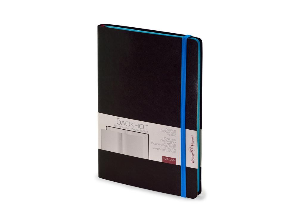 Блокнот А5 Megapolis Soft на резинке, темно-серый
