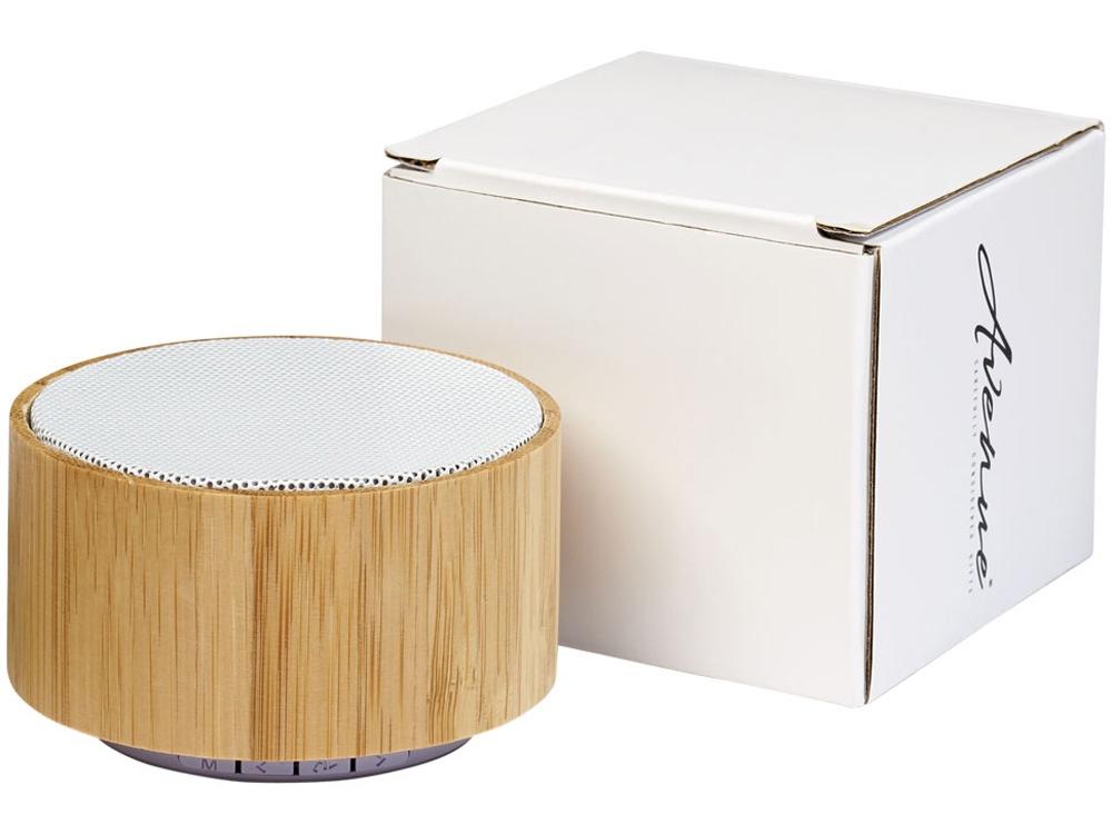 Бамбуковый Bluetooth®динамик Cosmos, дерево,белый