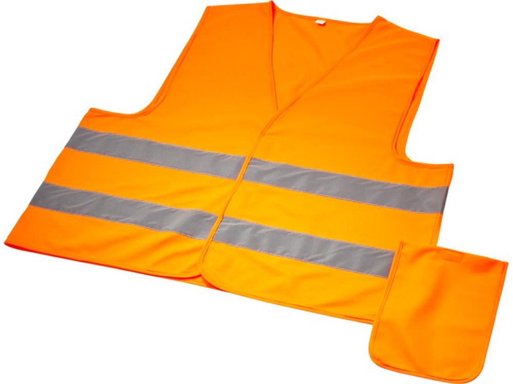Защитный жилет Watch-out в чехле для профессионального использования,  неоново-оранжевый