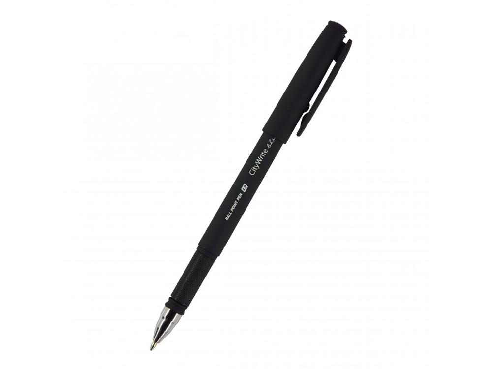 Ручка CityWrite.BLACK шариковая, черный пластиковый корпус, 1.0 мм, синяя