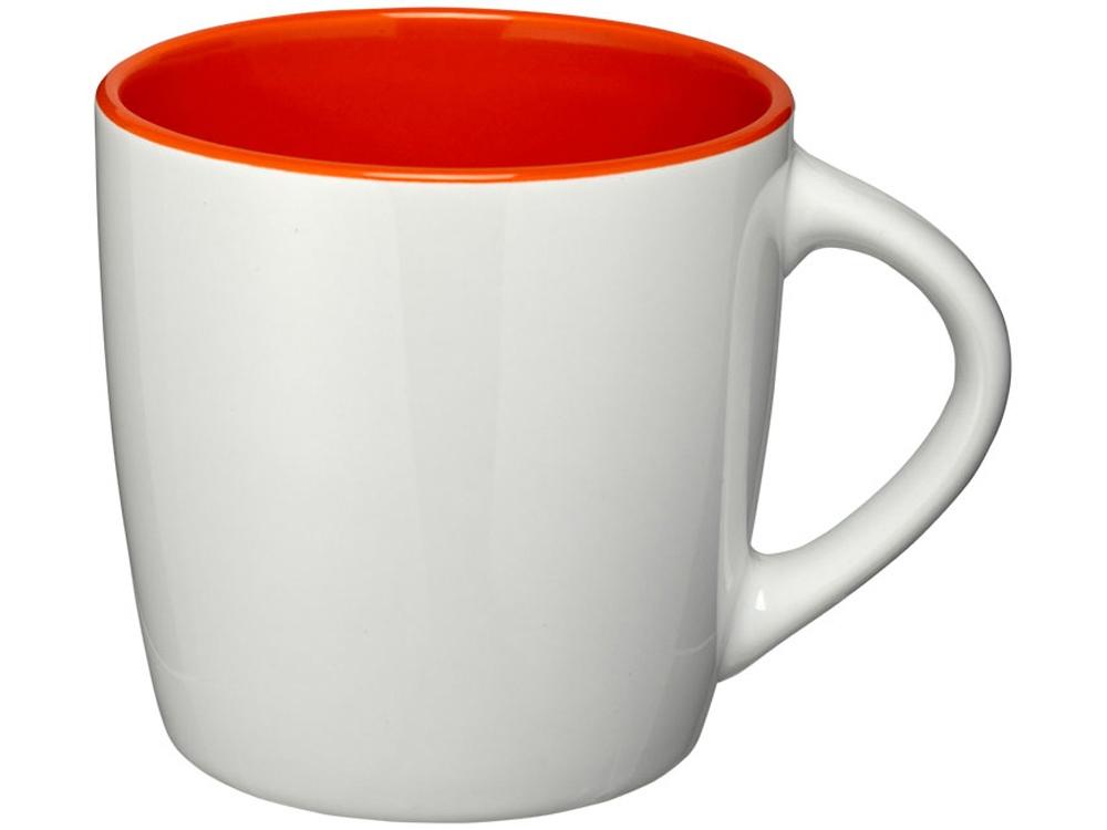 Керамическая чашка Aztec, белый/оранжевый