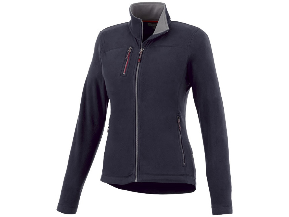 Женская микрофлисовая куртка Pitch, темно-синий