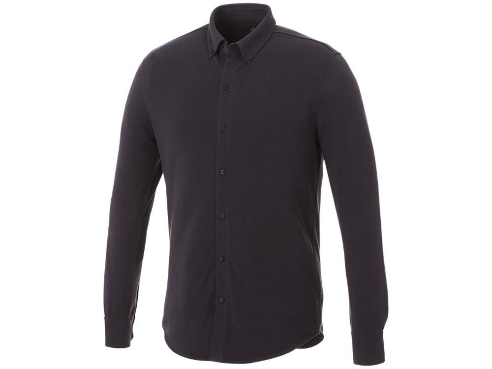 Мужская рубашка Bigelow из пике с длинным рукавом, серый графитовый