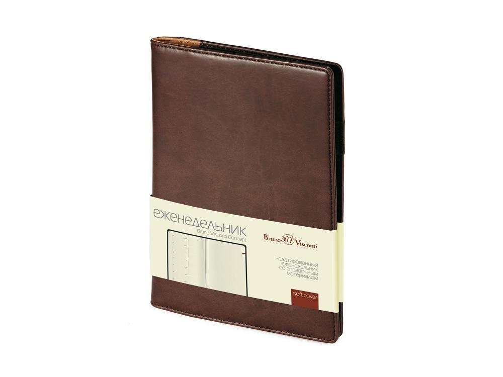 Еженедельник недатированный А5 Concept, коричневый