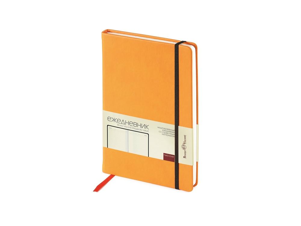 Ежедневник А5 недатированный Megapolis Velvet, оранжевый