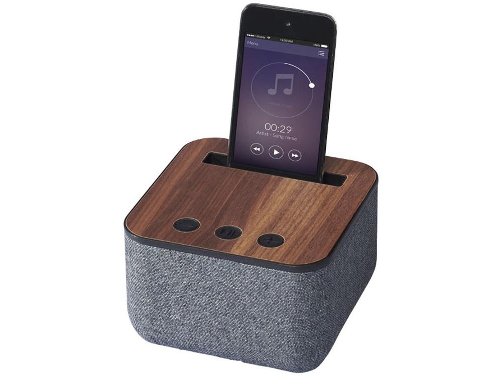 Динамик Shae Bluetooth® с элементами дерева и ткани