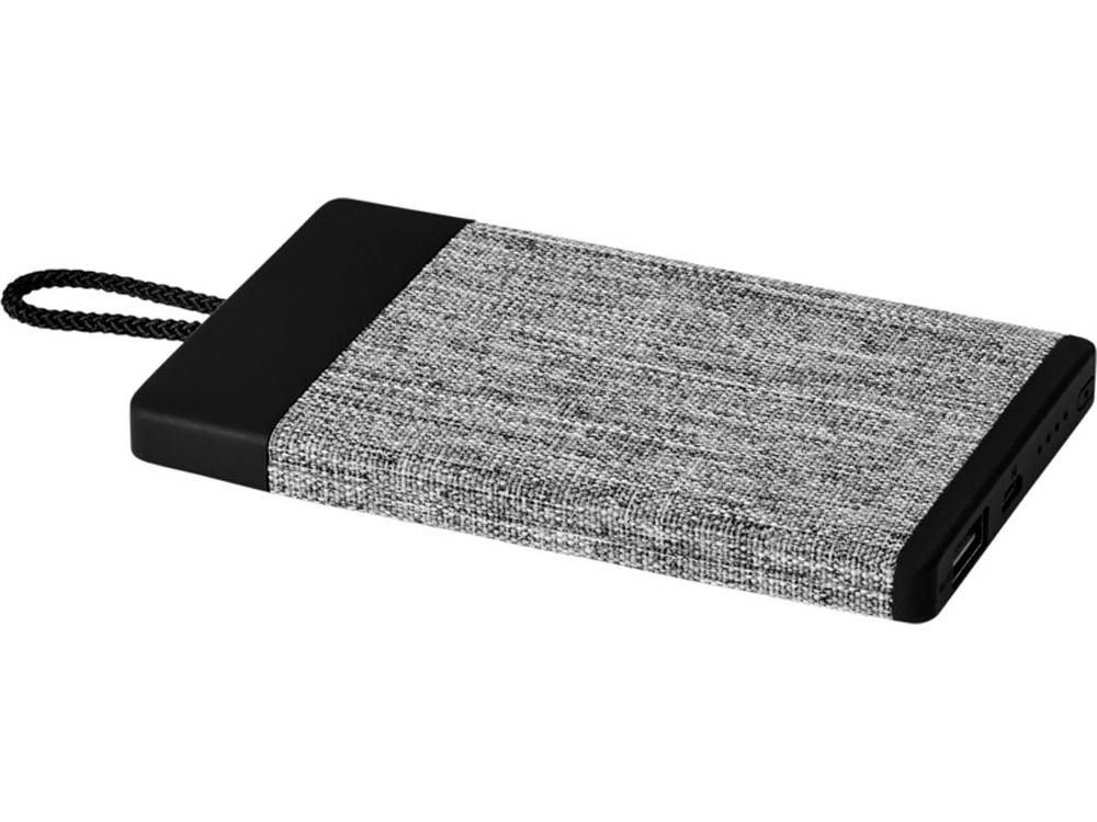 Портативное зарядное устройство Weave на 4000мАч с тканевым покрытием, черный
