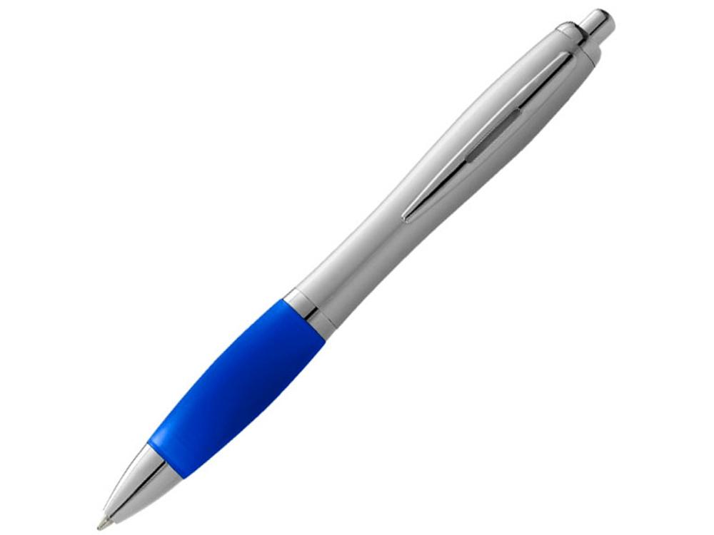 Ручка шариковая Nash, ярко-синий/серебристый, черные чернила