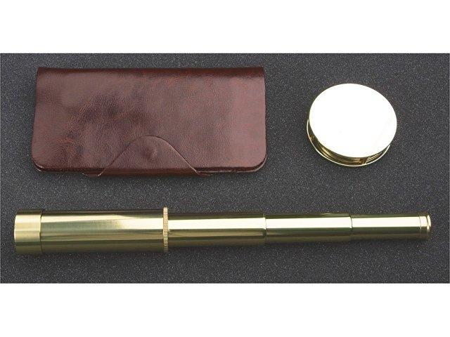 Набор «Каравелла»: трэвел-портмоне, подзорная труба, лупа (арт. 486908)