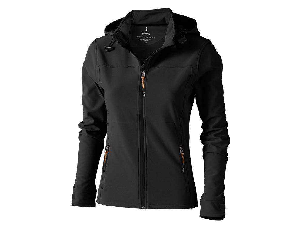Куртка софтшел Langley женская, антрацит