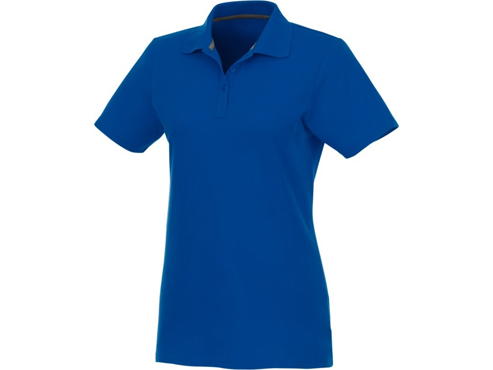 Женское поло Helios с коротким рукавом, синий