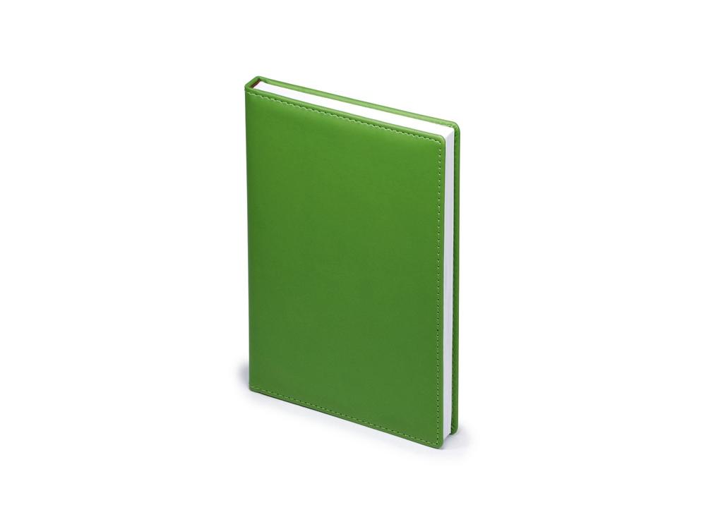 Ежедневник недатированный А5 Velvet, зеленый флуор