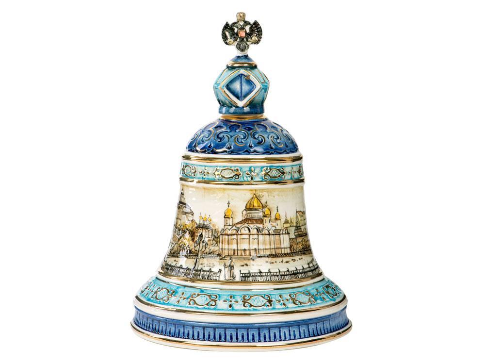 Штоф Колокол (цветной с золотом), 2,5л