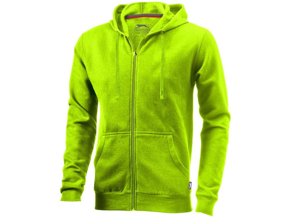 Толстовка Open мужская с капюшоном, зеленое яблоко