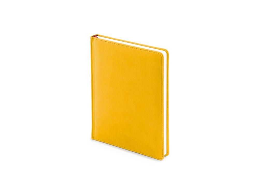 Ежедневник недатированный А6+ Velvet, желтый охра