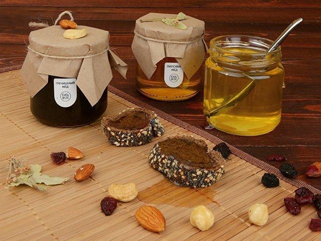 Мед натуральный Гречишный, 240г в подарочной обертке
