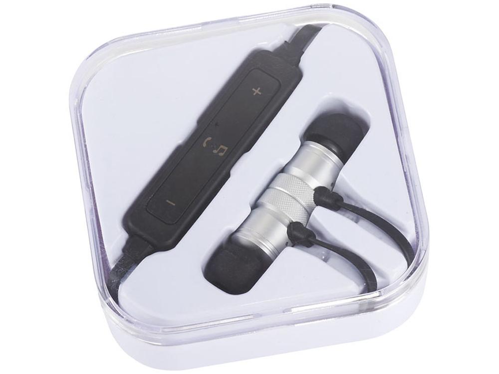 Наушники Martell магнитные с Bluetooth® в чехле, серебристый