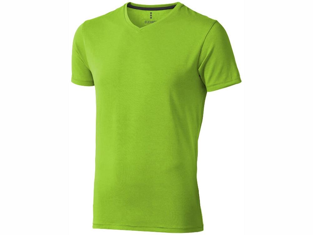 Футболка Kawartha мужская с V-образным вырезом, зеленое яблоко