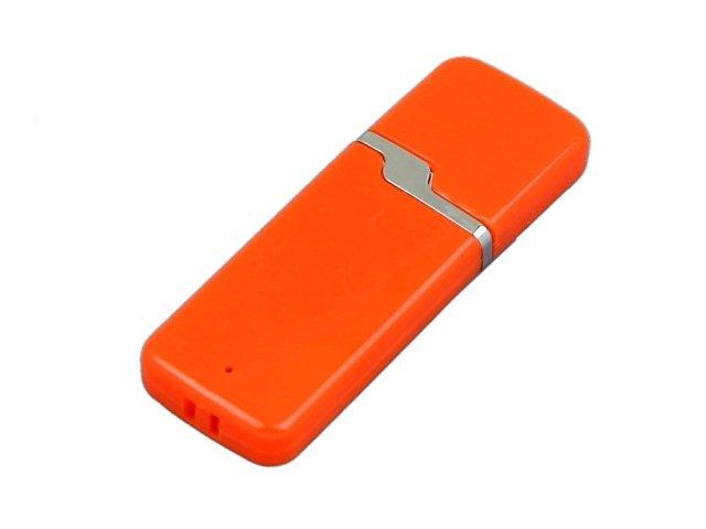 Флешка промо прямоугольной формы c оригинальным колпачком, 16 Гб, оранжевый