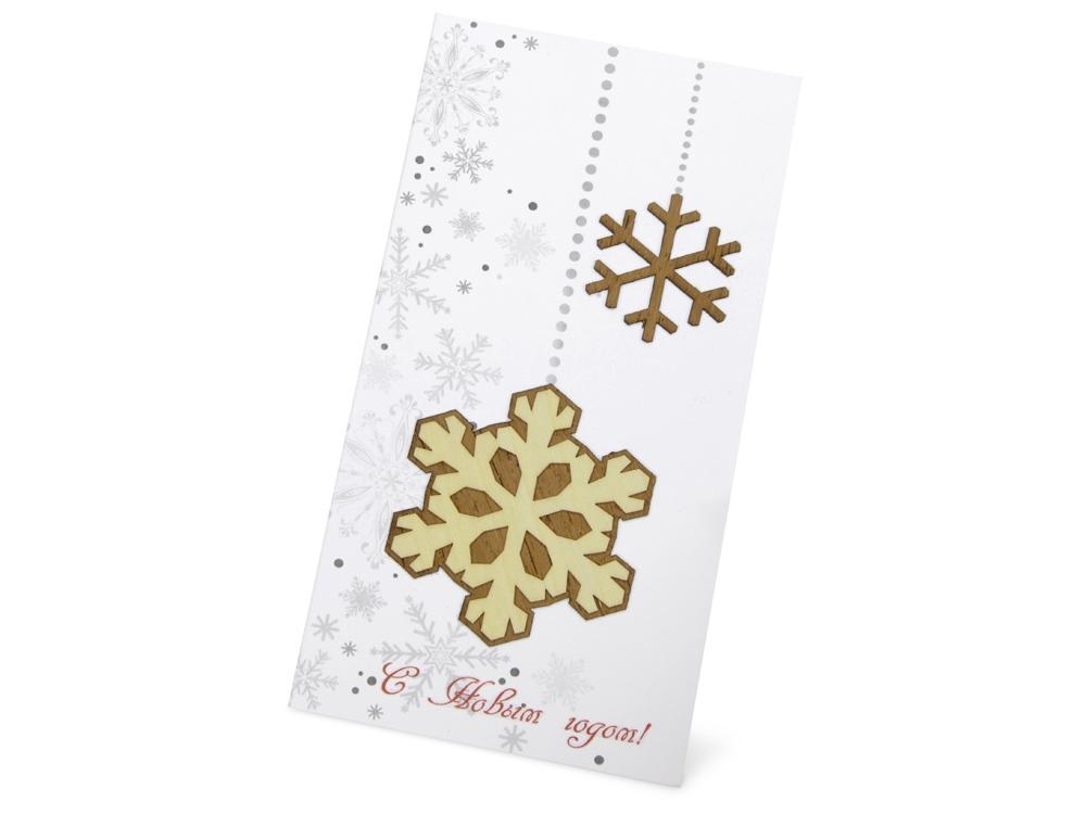 Открытка Новогодние снежинки