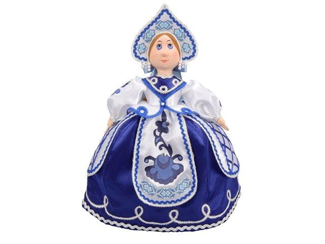 Подарочный набор «Гжель»: кукла на чайник, чайник заварной с рос