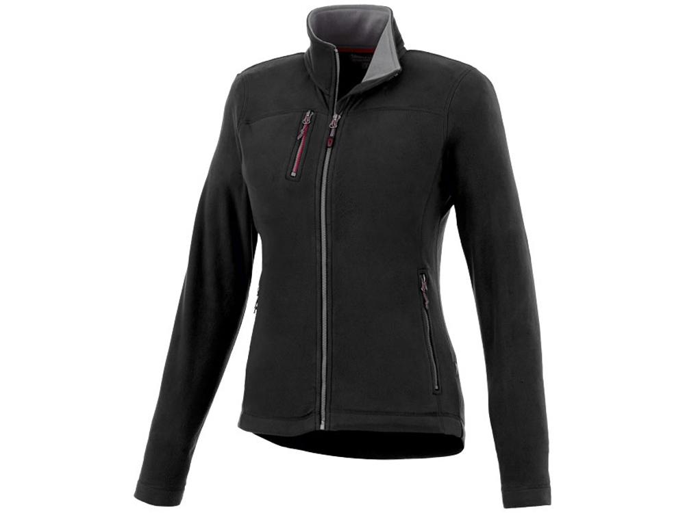 Женская микрофлисовая куртка Pitch, черный