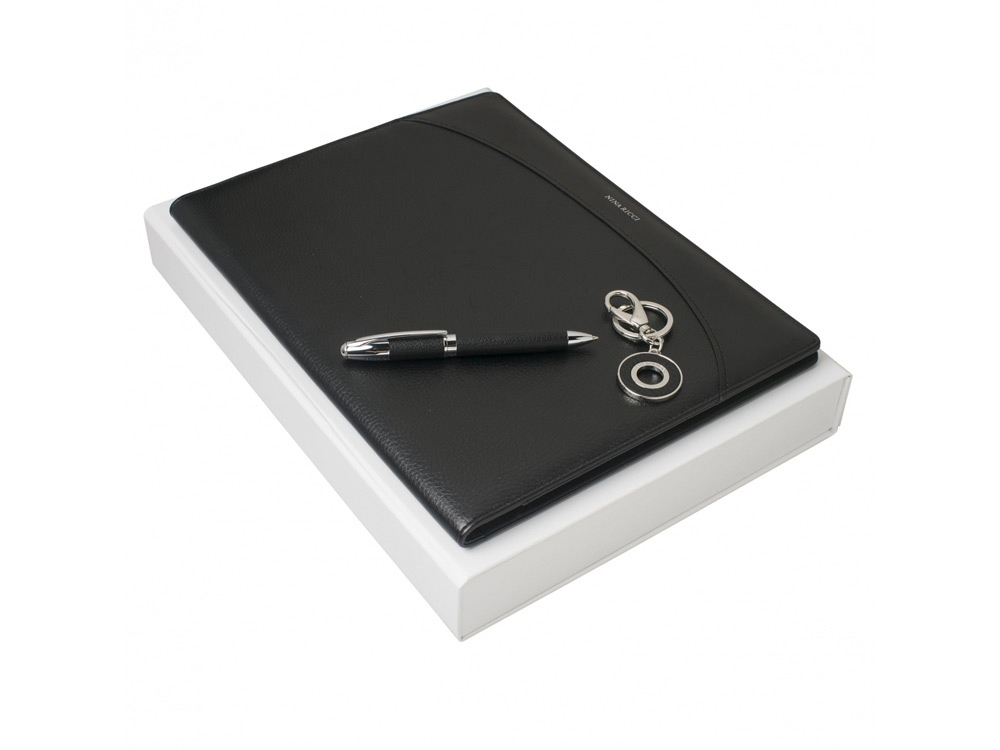Подарочный набор Embrun: папка А4, ручка шариковая, брелок. Nina Ricci