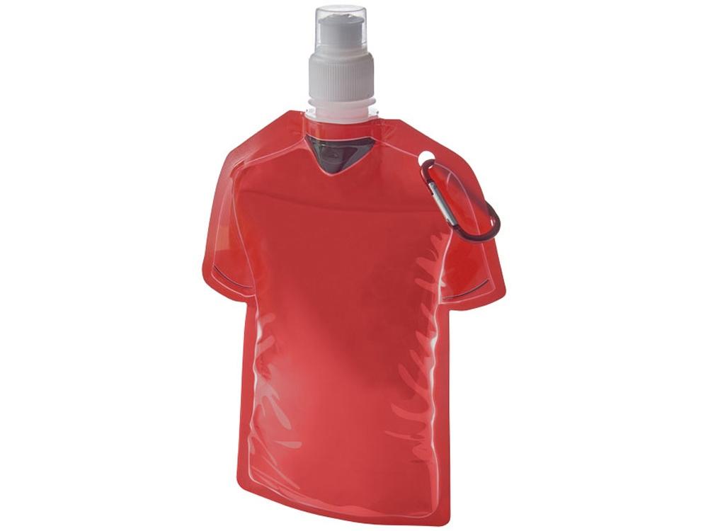 Емкость для воды в виде футболки Goal, красный