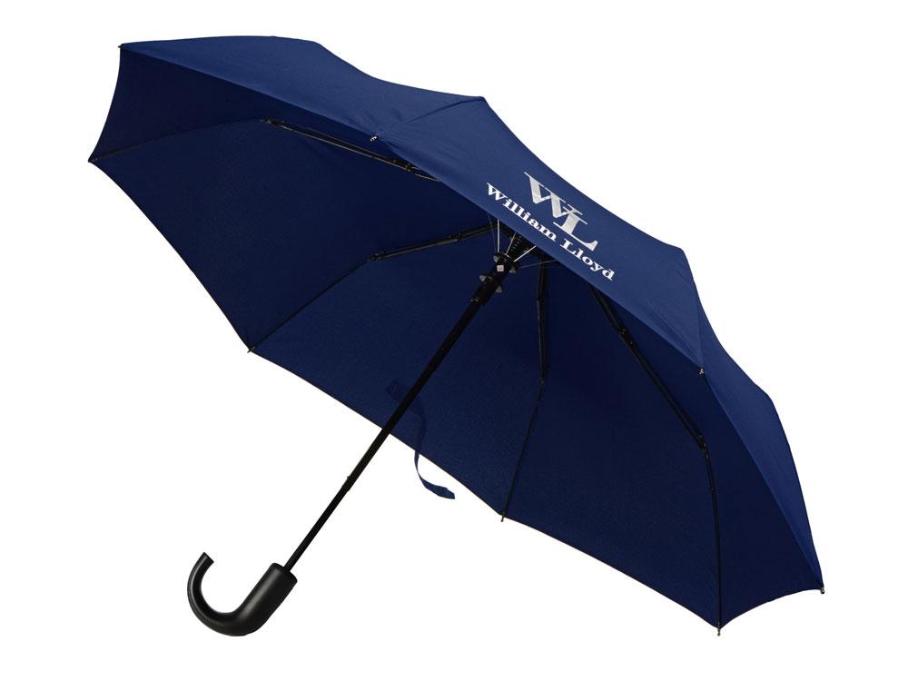 Складной зонт полуавтоматический William Lloyd, синий