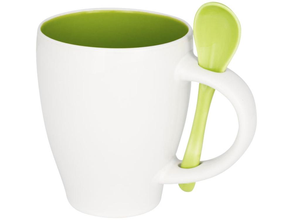 Чашка Nadu с ложкой, зеленый