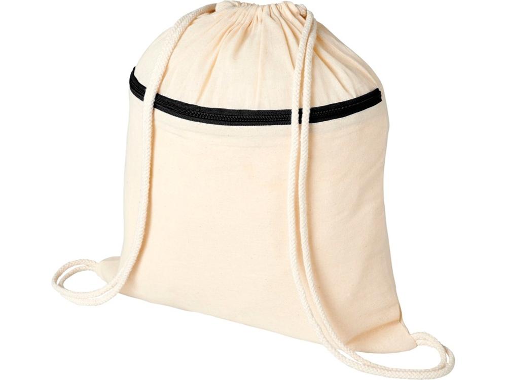 Рюкзак Oregon на молнии с кулиской, натуральный/черный