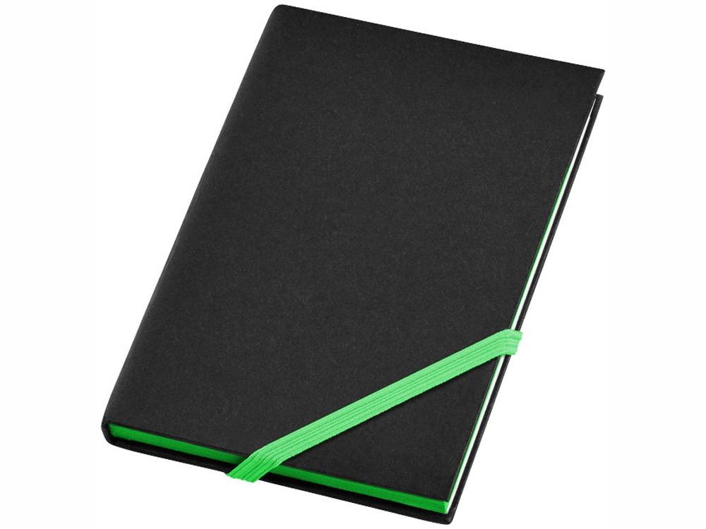 Блокнот А6 Travers Junior, черный/зеленый