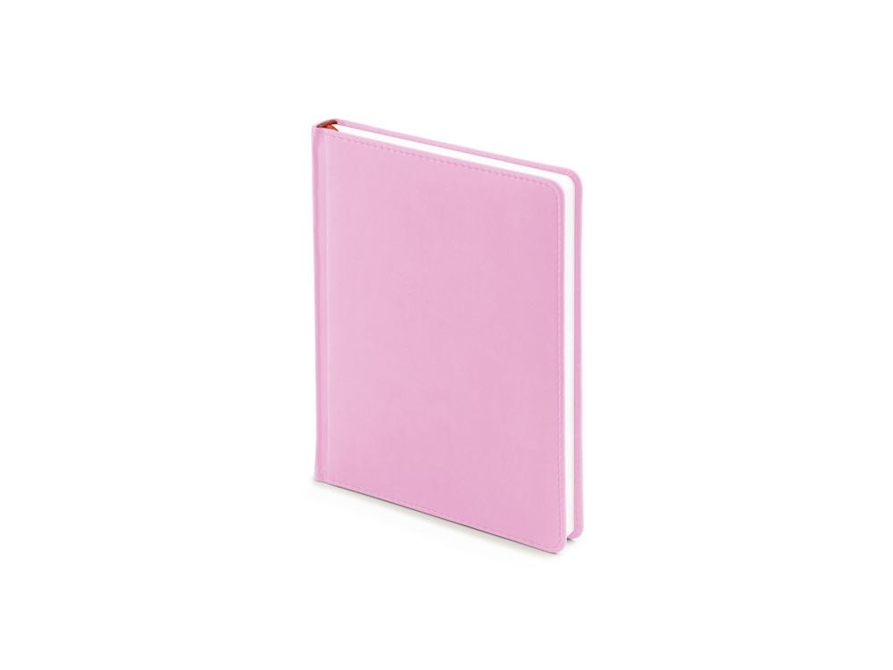 Ежедневник недатированный А6+ Velvet, нежно-розовый
