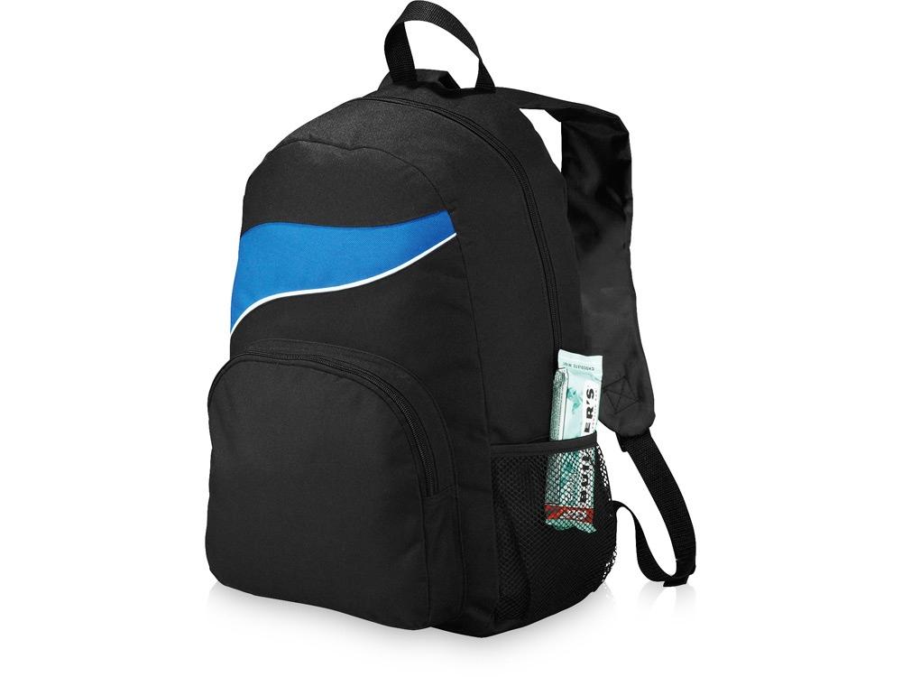 Рюкзак Tornado, черный/ярко-синий
