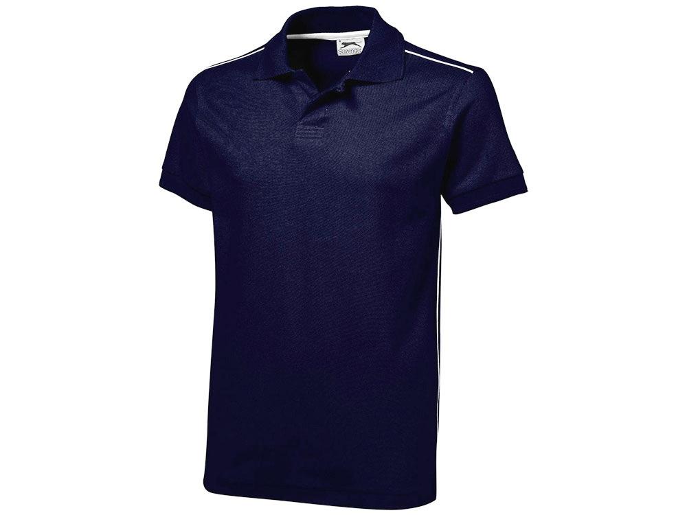 Рубашка поло Backhand мужская, темно-синий/белый