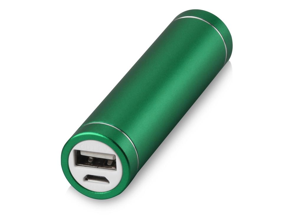 Портативное зарядное устройство Олдбери, 2200 mAh, зеленый