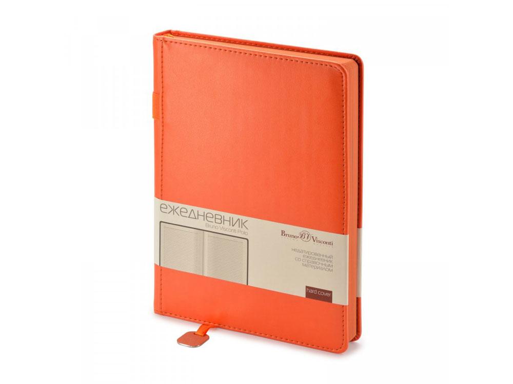 Ежедневник А5 недатированный Polo, оранжевый