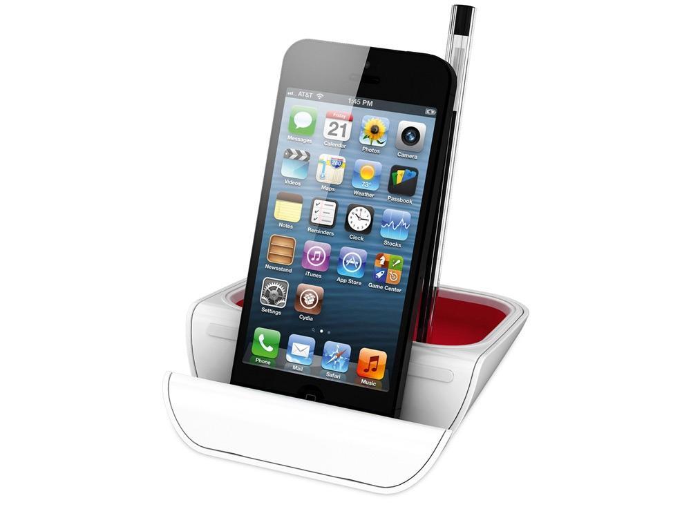 Подставка настольная Standi для ручек и мобильных устройств, красный