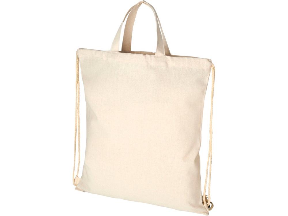 Рюкзак со шнурком Pheebs из 210г/м² переработанного хлопка, natural