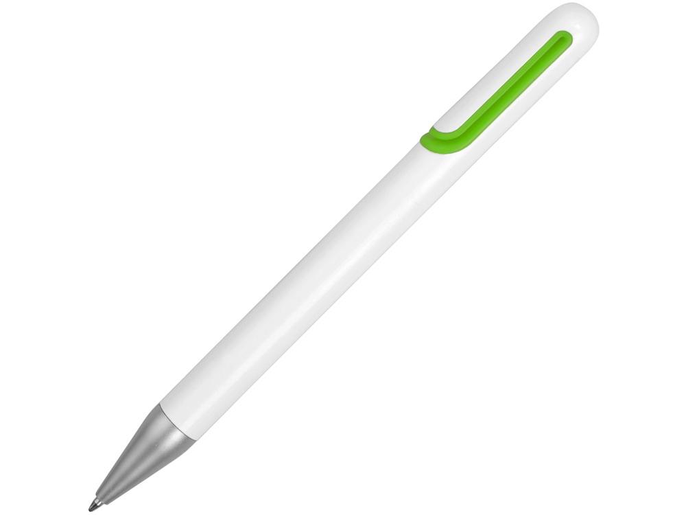 Ручка шариковая Nassau, белый/зеленое яблоко