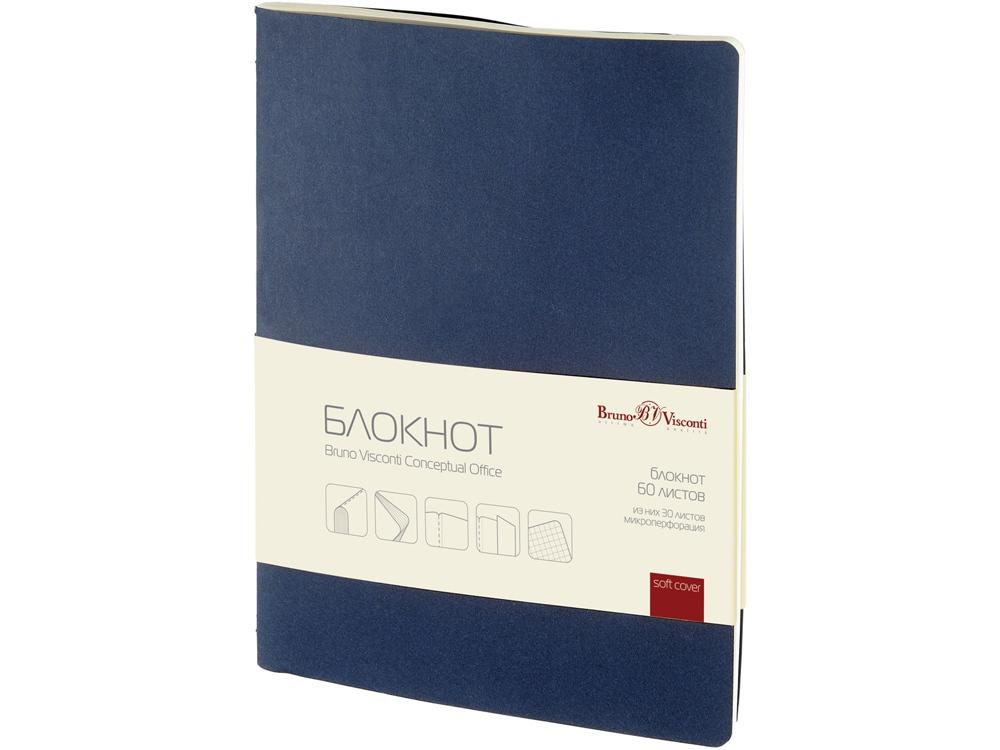 Бизнес - блокнот А4- (188 х 250 мм) Conceptual Office 60 л., синий