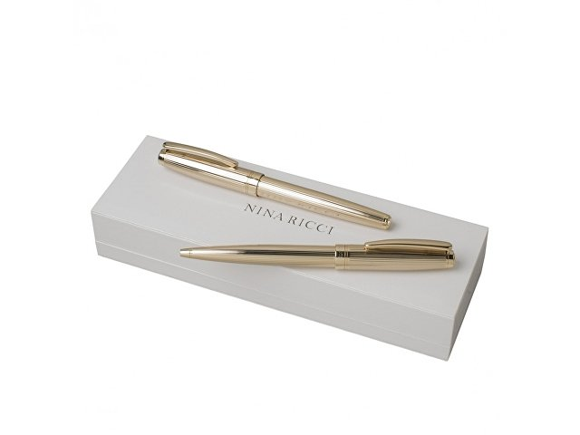Подарочный набор Ramage: ручка роллер, ручка шариковая. Nina Ricci, золотистый